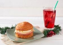 Christmas Ham, Egg White and Edam Cheese Croissant Bun
