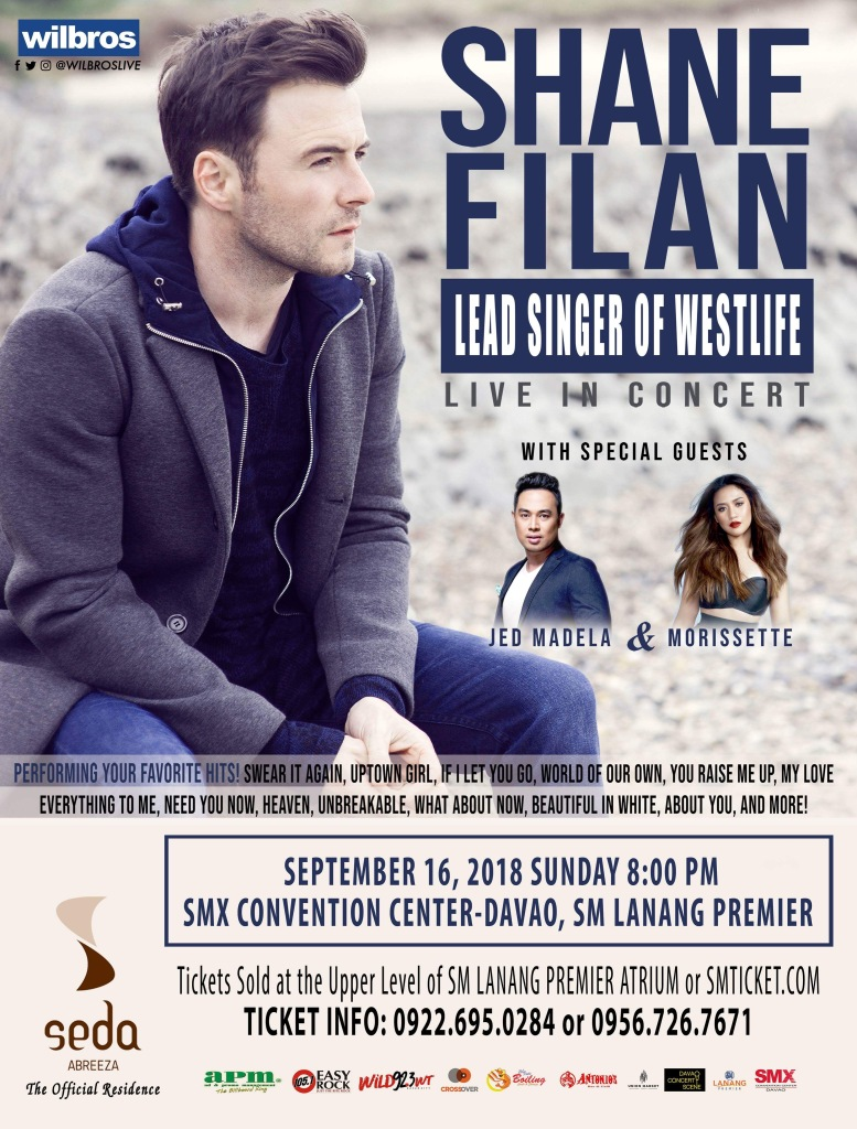 Westlife's Shane Filan to Sing Along with the Davaoenos