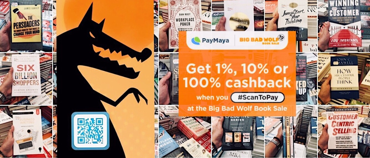Own More Books at The Big Bad Wolf  Book Sale With Paymaya QR Scan-To-Pay Cashback