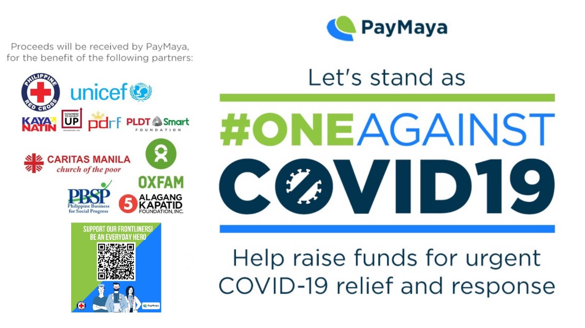 Be #OneAgainstCovid19 with PayMaya | How to Donate For The Relief And Response Operations in The Philippines While at Home