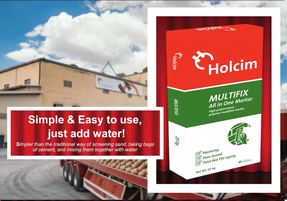 "Holcim Multifix is the ""Instant Mortar"" you need just in time for your quarantine home makeover"